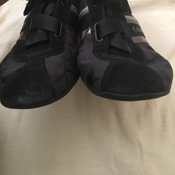 Coach Shoes - Coach Jenney sneakers black and silver